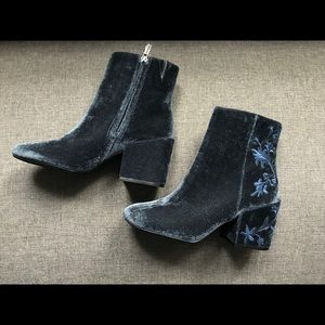 Kenneth Cole NY Renna Embroidered Velvet Boots
